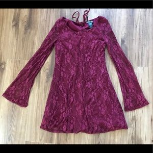 PAPER DOLL red lace dress